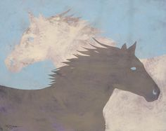 Buggs The Painting Horse Yin Yang Fine Art by BuggsBaggs on Etsy, $28.00