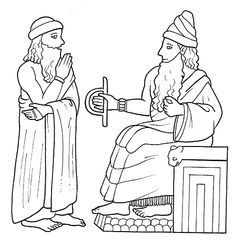 Mesopotamia Hammurabi Coloring Page
