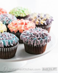 Hydrangea Cupcakes tutorial, plus a recipe for incredible, moist chocolate cupcakes! How to make beautiful hydrangea cupcakes - it's easier than you think!