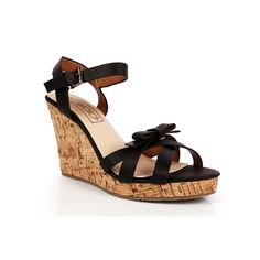 You'll be smitten when you try on these wedges #SmittenKitten available at #INTOTO #wedges #heels #black #blackwedges #casual #day