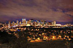 Edmonton skyline.