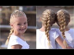 Dutch 3D Braid tutorial.  A great one for athletics!  #hairstyles #hairstyle #braid #3dbraid #longhair #cutegirlshairstyles #CGHdutch3dbraid #braid