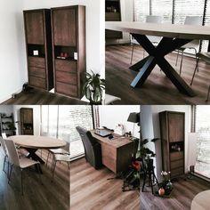 Een van onze vele opleveringen in onze vertrouwde Manhattan® serie, aangevuld met een Ellips eettafel 280x130x76cm matrix poot.  Van ontwerp tot tevredenheid..#maatwerk #interieurdesign #kenger #matrixpoot #industrieel...               ...B Y   K E N G E R  |  L I N T E L O                       w w w . k e n g e r . c o m Bathroom Furniture, Manhattan, Office Desk, Corner Desk, Design, Home Decor, Corner Table, Desk Office, Decoration Home