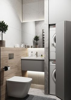 quirky home decor Modern Comfort Bathroom has never been so Awesome! Since the beginning of the year many girls were looking for our Trendy guide and it is finally got released. Now It Is Time To Take Action! Laundry Room Design, Bathroom Design Small, Laundry In Bathroom, Bathroom Interior Design, Modern Bathroom, Modern Interior, Modern Decor, Interior Livingroom, Kitchen Modern