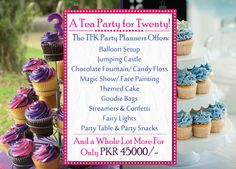 Chocolate Fountains, Candy Floss, Goodie Bags, Party Snacks, Themed Cakes, Fairy Lights, Streamers, Tea Party, Party Supplies