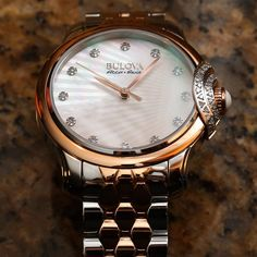"""Bulova Bellecombe Watch For Women Review - by Ariel Adams - see the hands-on photo gallery, read the full review: http://www.ablogtowatch.com/bulova-bellecombe-watch-women-review/ """"Bulova's Accu-Swiss Bellecombe collection gets some new models this year for 2015, including the Accus-Swiss Bellecombe ref. 65R164, which, in my opinion, is a really nice mixture of style and value when looking for a solid lady's timepiece. The Accu-Swiss family of watches under the larger Bulova brand all have…"""