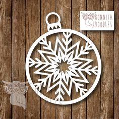 Christmas Snowflake Personal papercut template by BonnitaDoodles