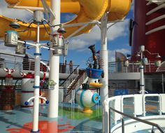 AquaLab splash zone on the Disney Wonder.  Lisa, our cruise expert, snapped this picture while at a Disney Agent Education. She puts a lot of time & energy in knowing all about #Disney Cruise Line. If you want to have a great cruise, you should definitely talk to Lisa. You can get a no-obligation quote using the form at http://www.buildabettermousetrip.com/get-a-cruise-quote/  #DisneyCruise #DCL