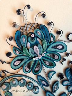 Painting mural drawing Paper Quilling By Gzhel band photo 1