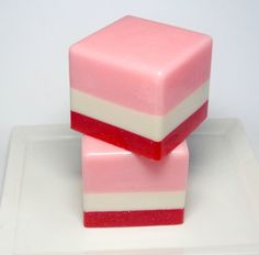 Valentines Soap   5.5 oz.  Strawberries and Cream by asliceofdelight on Etsy, $6.75  yummy handmade soap by one of my favorite soap makers.