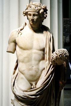 Antinous as Dionysus | Roman version of an existing type, rather than a direct copy of a lost Greek original of the 3rd c. BC | 3rd c. AD | Marble | The British Museum | London (UK)