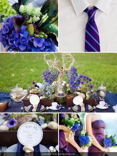 Cobalt and Purple wedding!