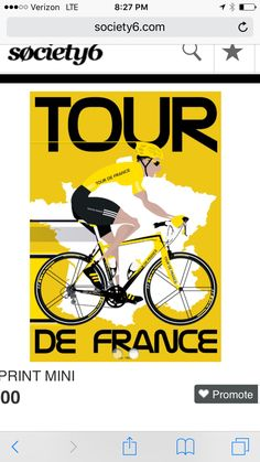 We were often in France in the summertime, which meant the Tour de France was going on. We would wake up in the morning, go out and explore, and mid afternoon have a snack and nap with the Tour de France on mute, sleepily watching and sleeping Mountain Bike Shoes, Mountain Biking, Vive Le Sport, Velo Retro, Bike Poster, France Art, Bicycle Art, Thinking Day, Cycling Art