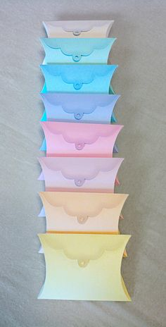 Pastel Favor Pillow Boxes #Swisshippo