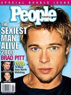 """The man of the millennium was none other than Brad Pitt, who earned his second Sexiest Man Alive cover. Then, he was a newlywed, devoted to wife Jennifer Aniston. """"It was obvious they were madly in love,"""" a crew member from Pitt's film, Snatch, told PEOPLE."""