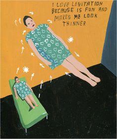 Javier Mayoral: «Levitation is good». Acrylic on plywood, 20,3 x 24,1 cm