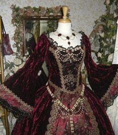Renaissance Royal Fantasy Jewelry Set Belt Bodice Necklace Circlet Custom. $295.00, via Etsy.