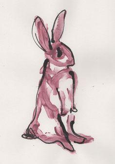 Jen Moules Rabbit Illustration