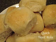 Chocolate, Chocolate and more...: Quick Yeast Rolls