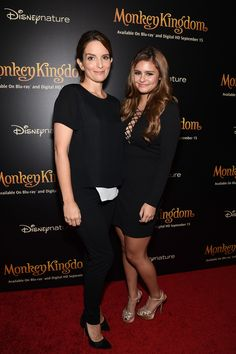 Tina Fey and Jacquie Lee attend Disneynature's Monkey Kingdom special screening celebrating the film's September15th Blu-ray / Digital HD release on September 2, 2015 in New York City.