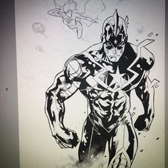 #wip #progress #cover #earth2society #captainsteel #earth2 #dcentertainment by jorge_jimenez_comicbookartist