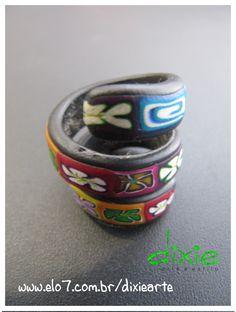 Anel Mola em Cerâmica Plástica    www.elo7.com.br/dixiearte