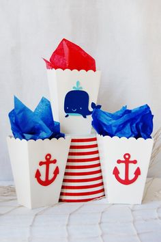 """Photo 2 of Nautical / Baby Shower/Sip & See """"Ahoy, It's a boy"""" Nautical Candy Bar, Nautical Party, Anchor Party, Nautical Anchor, Navy Party, Nautical Wedding, Shower Party, Baby Shower Parties, Baby Shower Themes"""