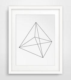 Math Art, Pyramid, Geometrical, Scandinavian Design, Home Decorations, Prism, Geometric Print Art, Retro Art, Geometric Poster, Digital Art