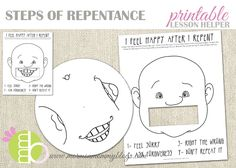 Mormon Mommy Printables: Steps of Repentance Printable Activity