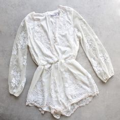 reverse- life of the party ivory sequin romper