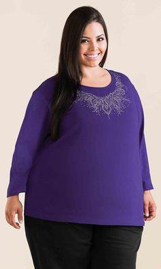 Aurora Embellished Top / MiB Plus Size Fashion for Women / Winter Fashion http://www.makingitbig.com/product/5068