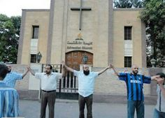 Muslims protecting an adventist church :)