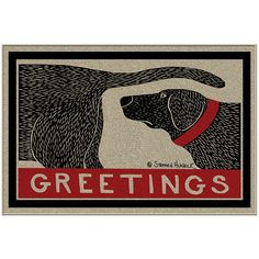 Dog Sniffing Welcome Doormat