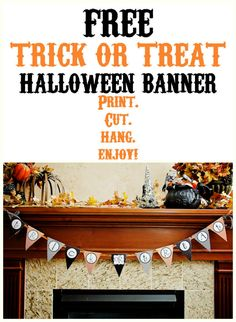 Free Trick or Treat Halloween Banner