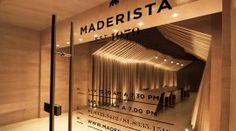 Maderista is a carpentry boutique that offers custom made furniture using only the finest wood. The company approached Mexican studio Anagrama, looking for a rebranding… Corporate Design, Retail Design, Identity Design, Brand Identity, Visual Identity, Made Up Words, Classic Window, Window Signage, Typography Images