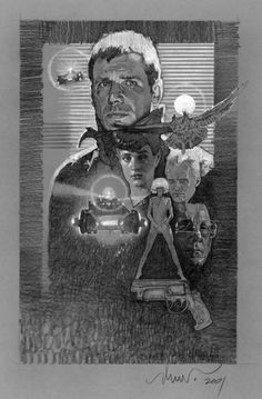 Blade Runner comprehensive sketch by Drew Struzan. Happy to say this piece is in my collection.
