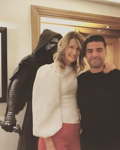 """@lauradern on Instagram: """"Found this guy along the way. Feels like someone's behind us... #thelastjedi #oscarisaac"""""""
