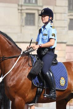 The Royal Palace, Stockholm Equestrian Chic, Equestrian Girls, Riding Helmets, Riding Boots, Woman Riding Horse, Female Police Officers, Female Cop, Beach Girls, Sexy Asian Girls