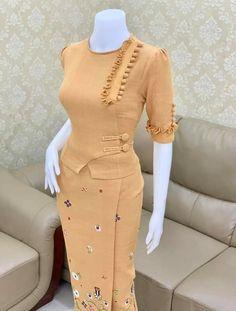 Traditional Dresses Designs, Myanmar Dress Design, Myanmar Traditional Dress, Preteen Fashion, Kurti Designs Party Wear, Latest African Fashion Dresses, Super Cute Dresses, Classy Dress, Blouse Designs