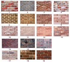 tipos de tijolo aparente ou de demolição