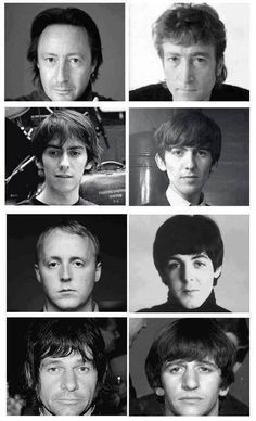 The boys and their Beatle dads! Julian and John, Dhani and George, James and…