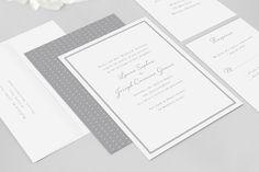 Traditional Wedding Invitations  Daphne  Wedding by DearLC on Etsy