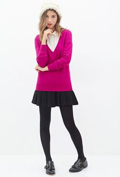 Deep V-Neck Sweater | FOREVER21 - 2000083305
