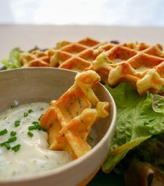 Gaufres salées végétariennes aux courgettes et feta