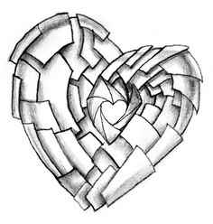 Love Heart Tattoo Designs For Men Shuttering heart tattoo design Heart Pencil Drawing, Love Heart Drawing, Love Heart Tattoo, Broken Heart Tattoo, Pencil Drawing Tutorials, Pencil Drawings, Heart Tattoos, Drawing Ideas, Tattoo Hearts
