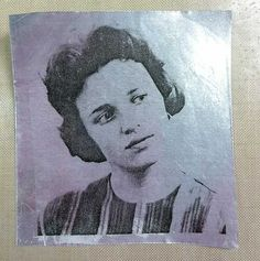 How to make an image transfer on metal tape, from Claudine Hellmuth