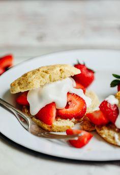 AMAZING Vegan GF Strawberry Shortcake! 30 min, 10 Ingred., SO fluffy   tender! #vegan #glutenfree #shortcake #recipe #minimalistbaker