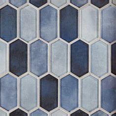 Blue Glass Tile, Blue Tiles, Glass Mosaic Tiles, Tile Mosaics, Wall Tiles, Marble Mosaic, Mosaic Wall, Blue Backsplash, Stone Backsplash