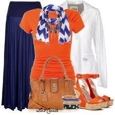 Cobalt & Orange 3 by lv2create on Polyvore