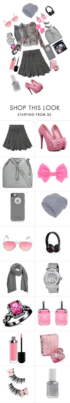 """Untitled #61"" by sylviabunny ❤ liked on Polyvore featuring Abercrombie & Fitch, Eight Sixty, MICHAEL Michael Kors, Hallhuber, Armitage Avenue, Beats by Dr. Dre, SELECTED, Michael Kors, Lipsy and Essie"